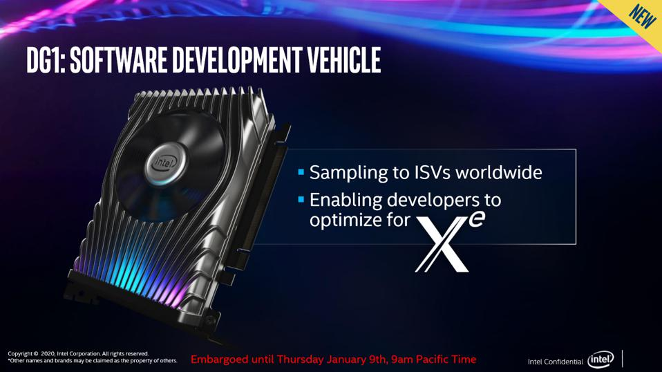Intel's Xe DG1 graphics card