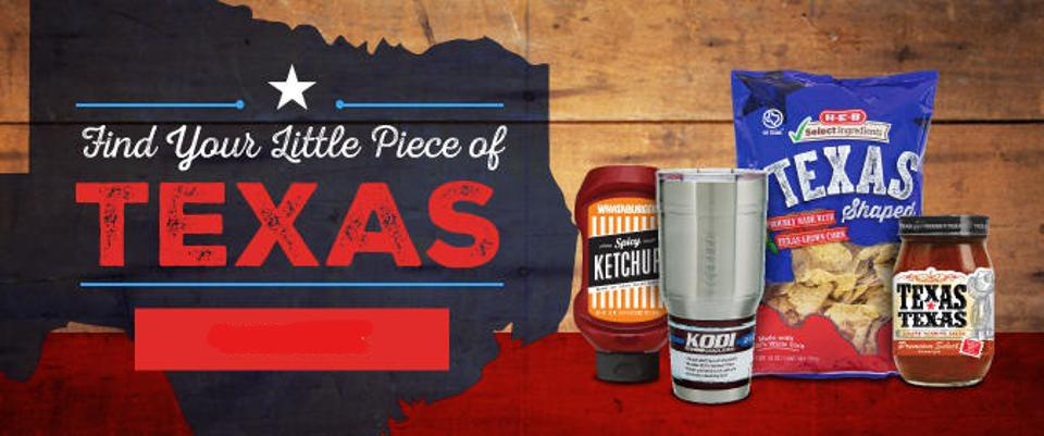Texas products from H-E-B