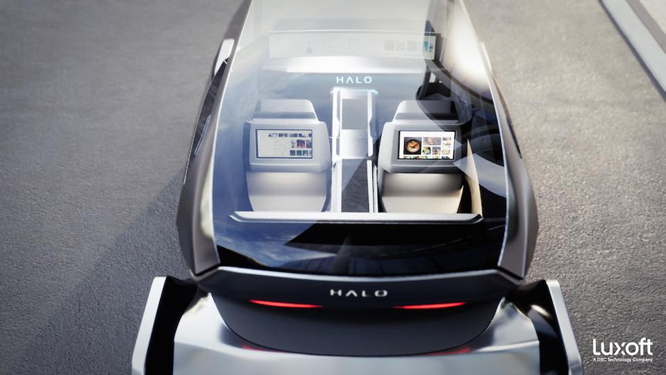 Luxoft HALO was displayed at the CES 2020 technology show in Las Vegas, Nev.