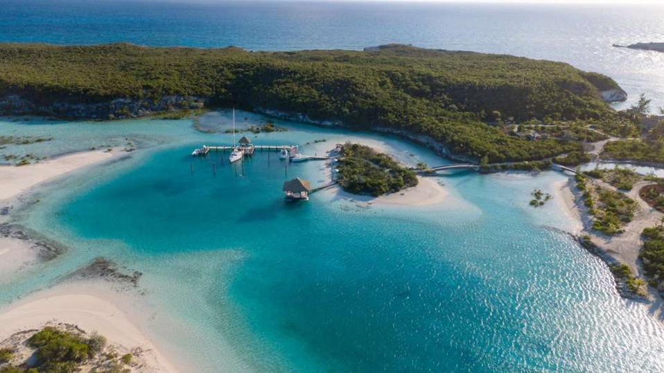 Choiny Cay in the Bahamas