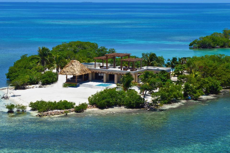 Île privée de Gladden au Belize