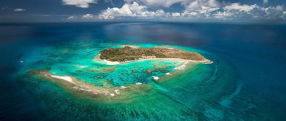 Île Necker dans les îles Vierges britanniques