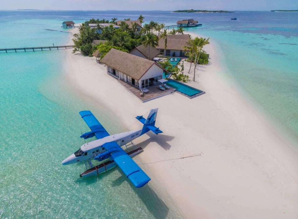Voavah Island in Maldives