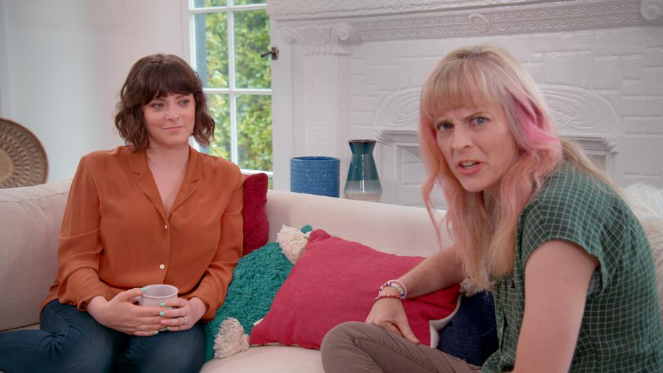 Rachel Bloom and Maria Bamford in Topic's ″What's Your Ailment?″