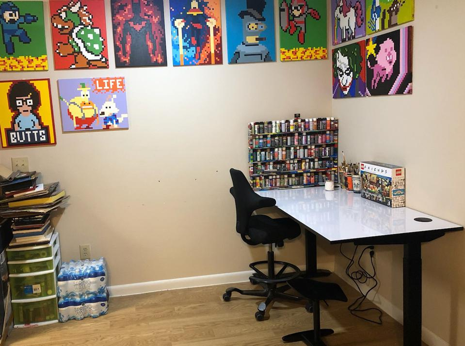 All art copyright Curtis Silver (and yes, that paint tower is made of LEGO)