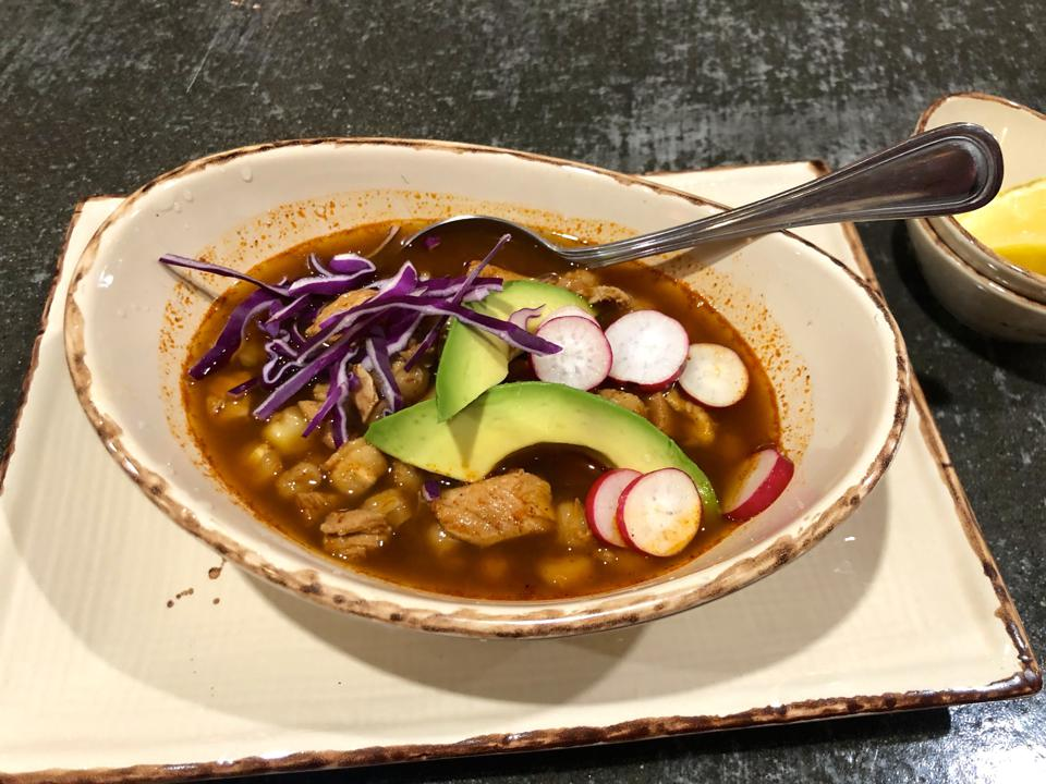 Persimmon Bistro posole Palm Springs