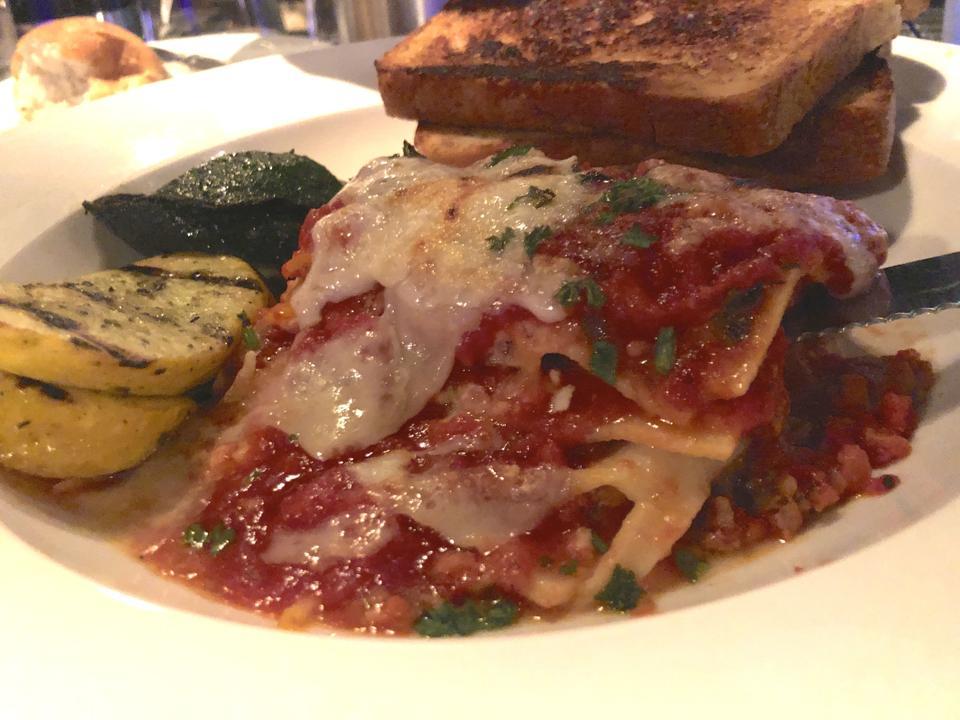 The Purple Room lasagna