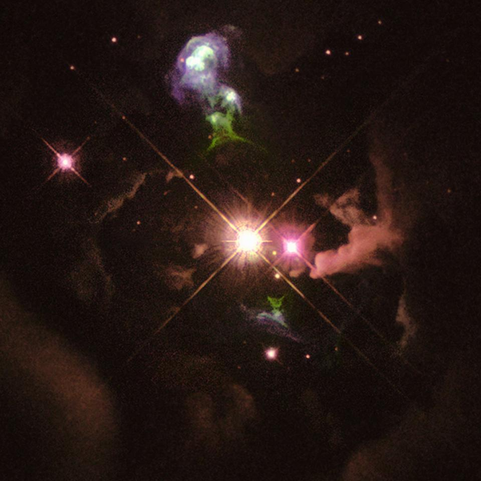 A Herbig-Haro object.