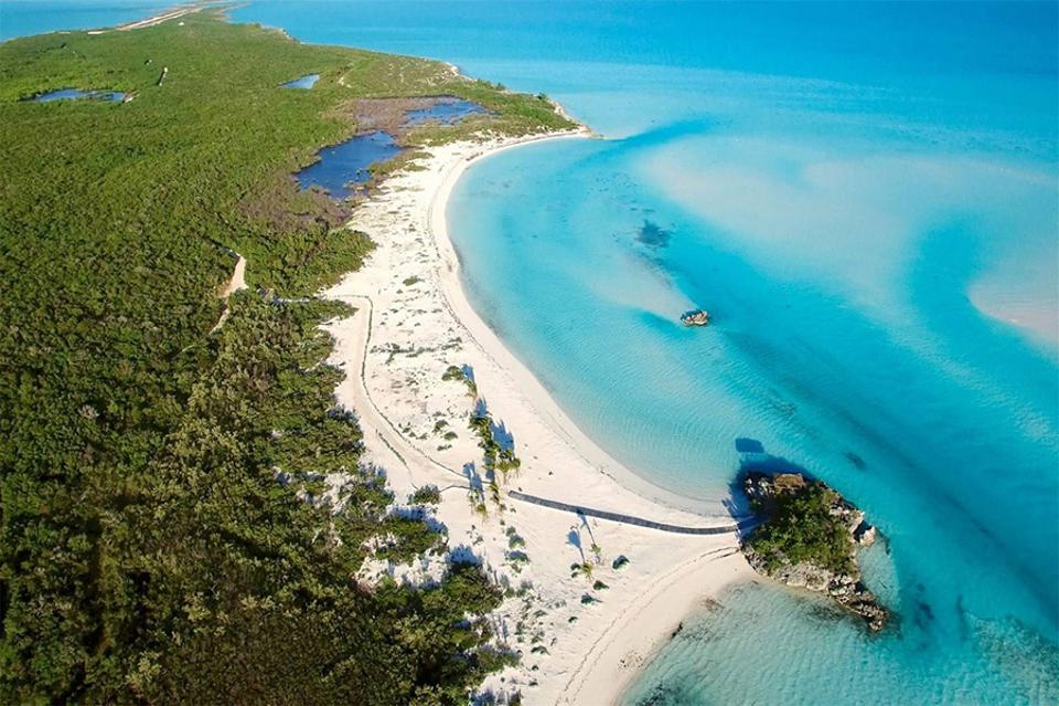 Blue Island in Exuma Cays
