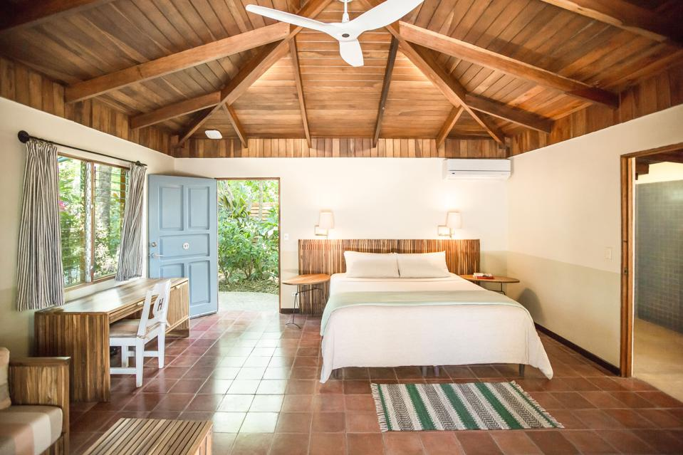 Natural woods are used throughout guest rooms and public spaces