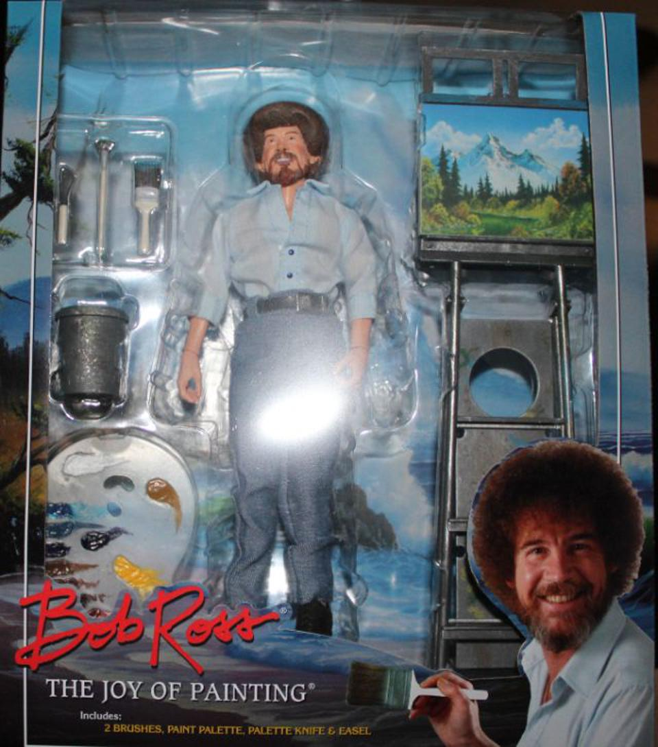 Review Tv Painting Icon Bob Ross Gets An Action Figure