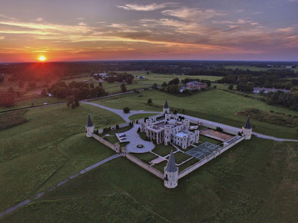 Castle in Kentucky at sunset.
