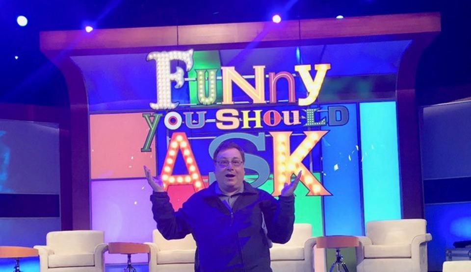 Producer Bob Boden on the set of ″Funny You Should Ask″