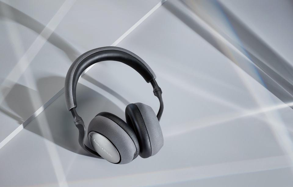 Pair of silver PX7 headphones