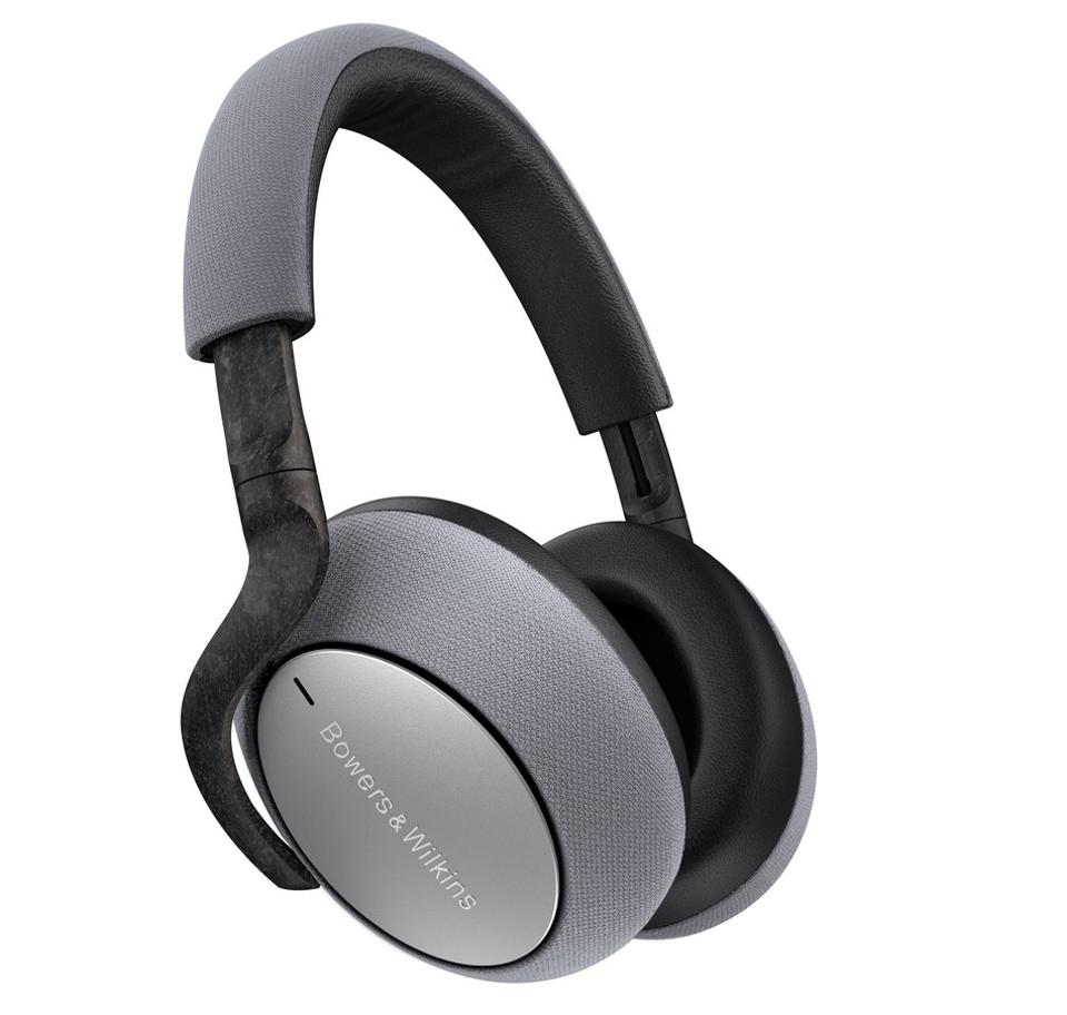 Silver B&W PX7 headphones