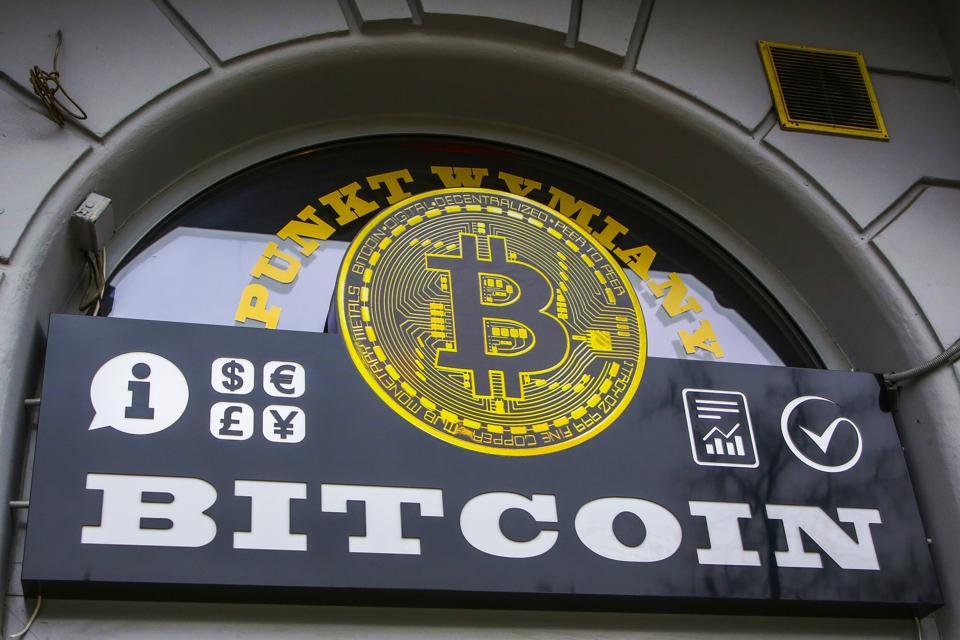 Bitcoin exchange shop in Krakow