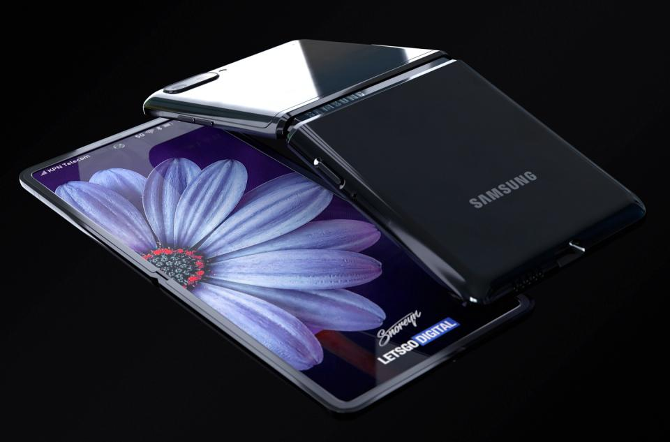 Samsung Galaxy Z Flip Concept Images (Snoreyn/LetsGoDigital)