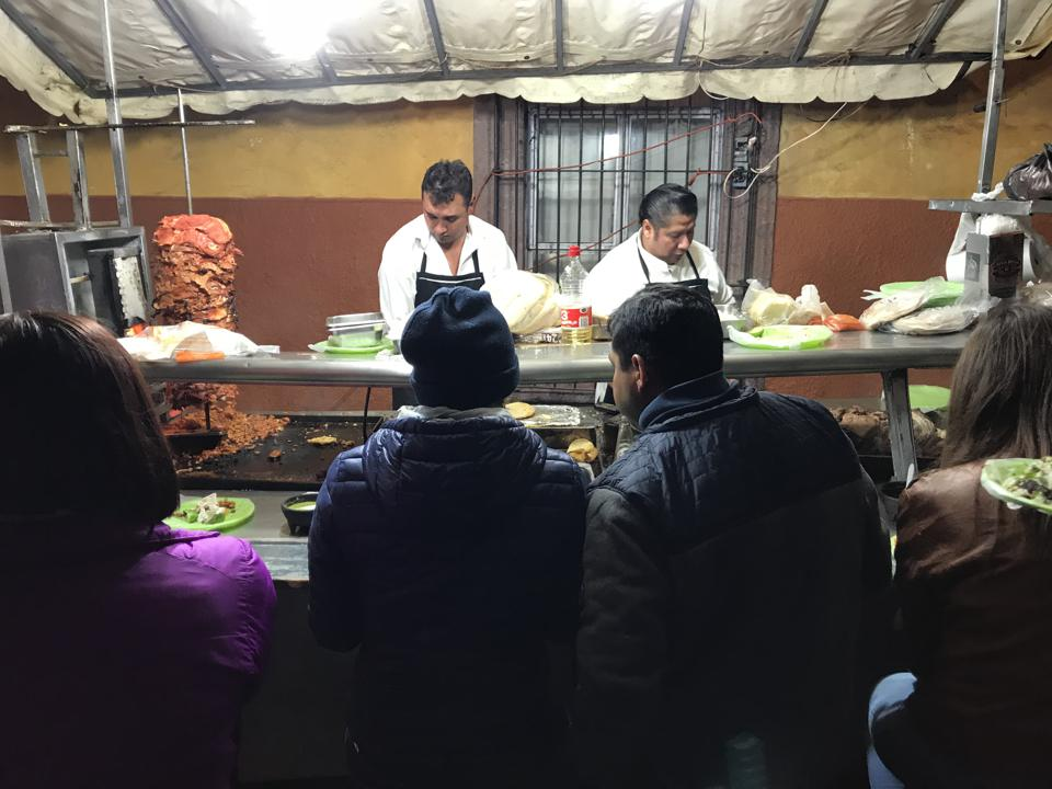 Locals wait to order at Tacos don Tomas