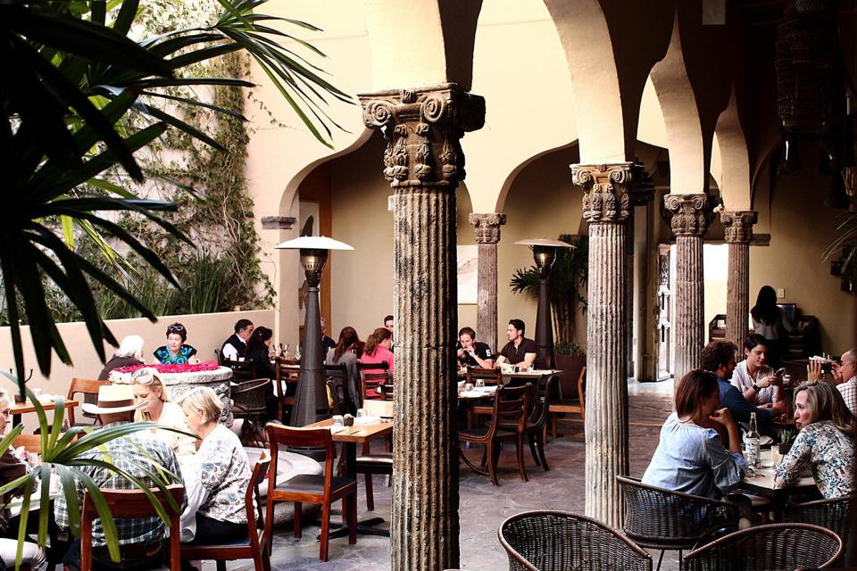 The main courtyard at the Restaurant