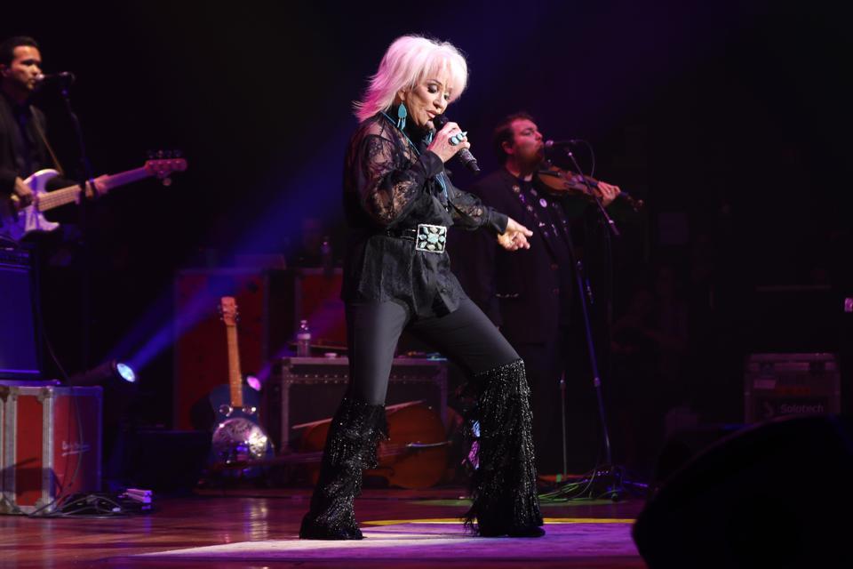 Tanya Tucker on stage at the Ryman Auditorium, January 12, 2020