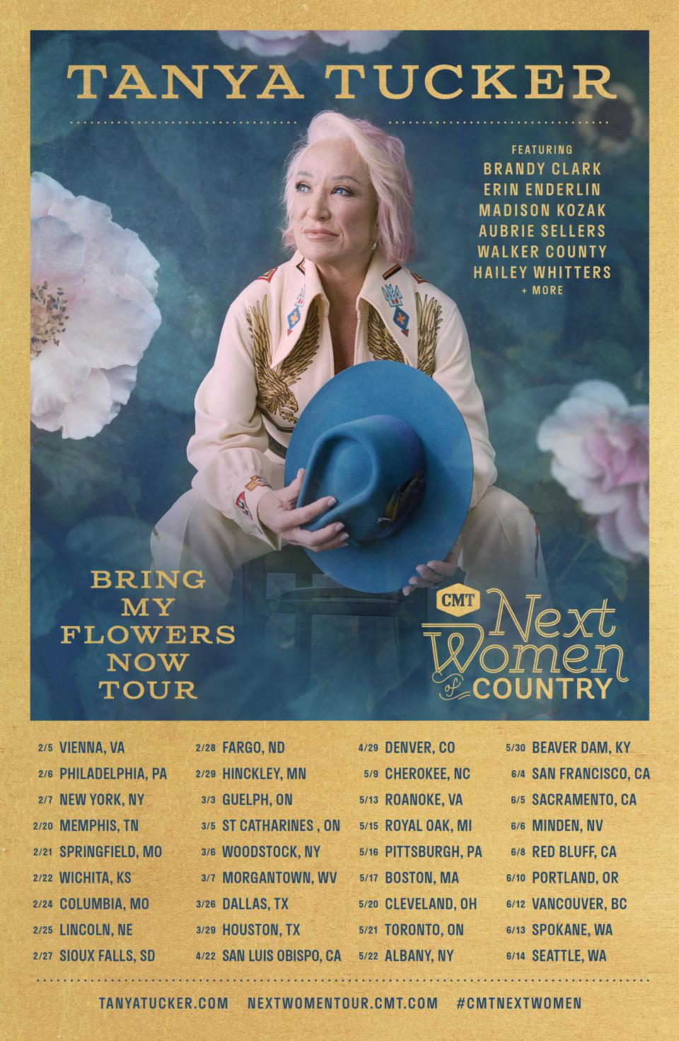 CMT Next Women in Country: Bring My Flowers Now Tour Schedule