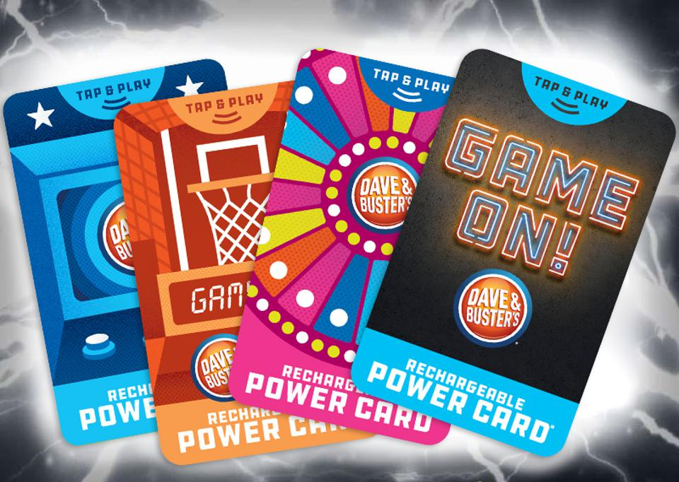 The supercharged power cards at Dave & Busters