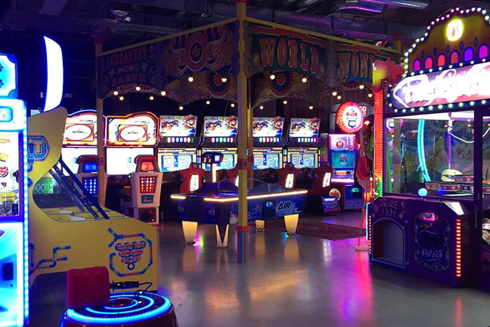 Air hockey and some of the games you can play at Archie Brothers Cirque Electriq in Melbourne.