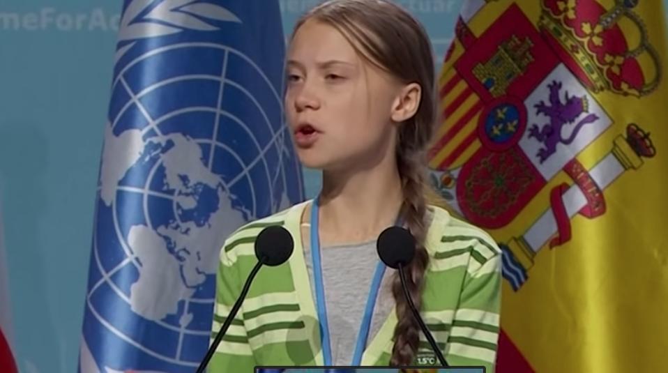Greta Thunberg at COPS25