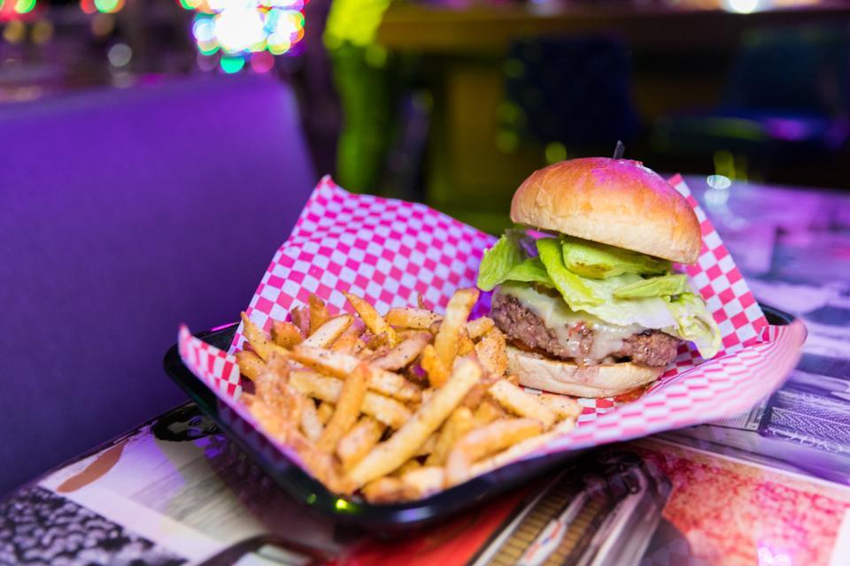 Scottsdale, AZ - A gourmet burger at the District
