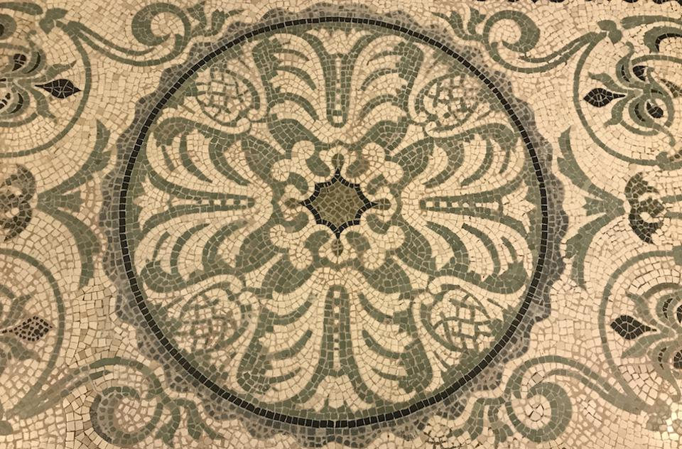 Mosaic floor tiles at The Langley