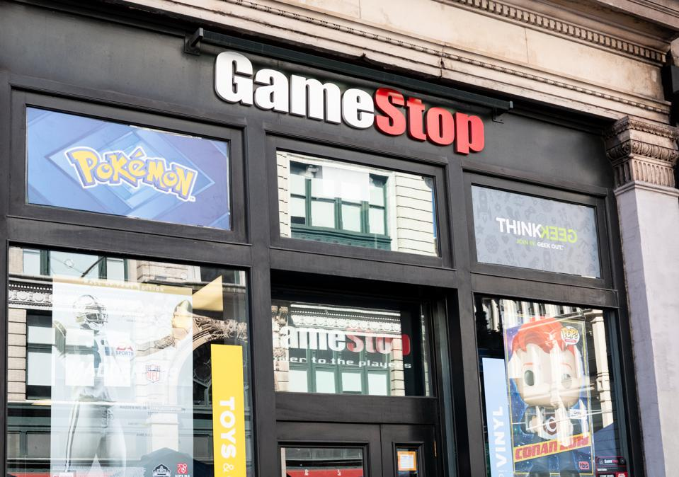 Game Stop store in New York City...