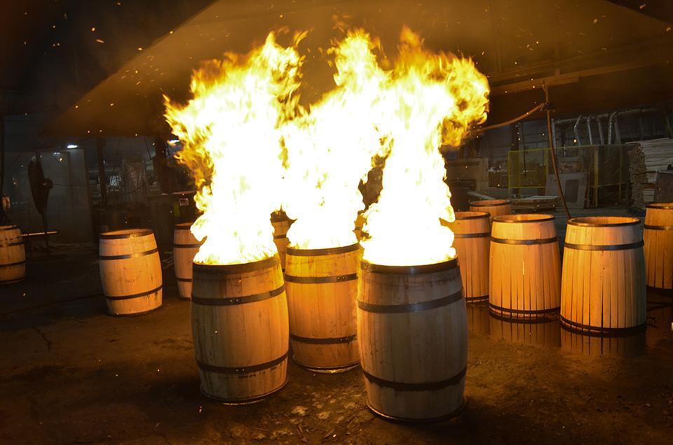 Bourbon Barrel toasting, Louisville, Kentucky.