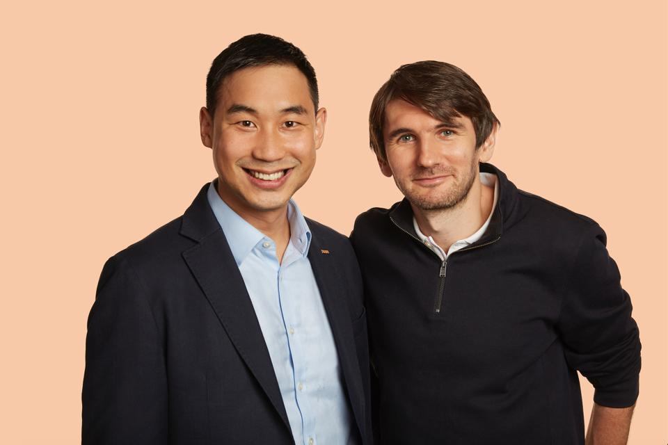 Noom founders Saeju Jeong and Artem Petakov