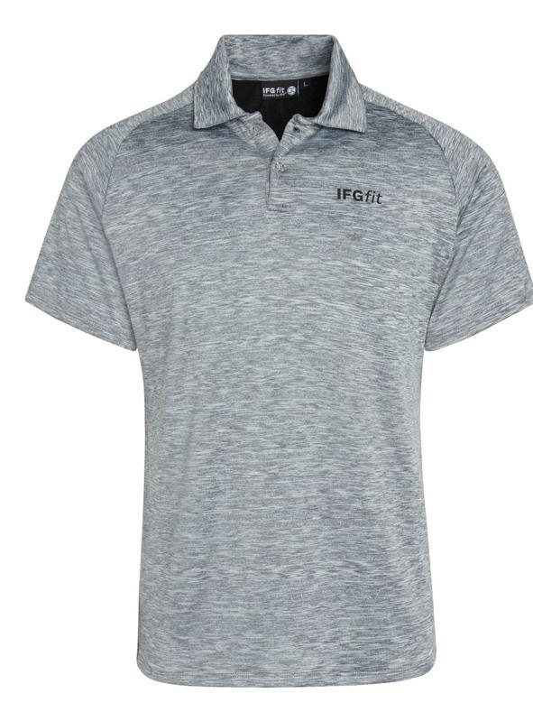 Men's tech posture polo in grey