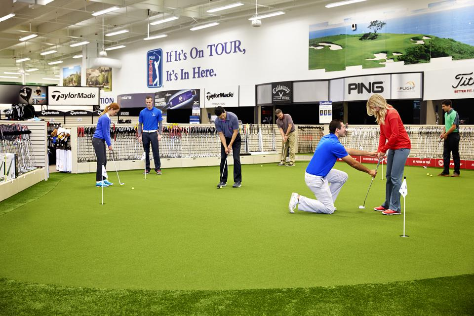 In-store putting green