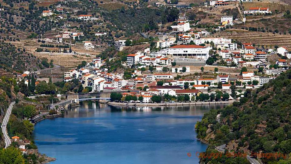 The Pinhao village on the Douro River