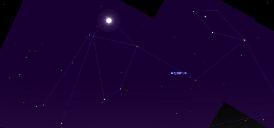 The action will take place after sunset on Jan. 27 in the constellation of Aquarius.