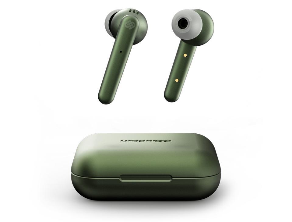 Olive green Urbanista Paris earbuds