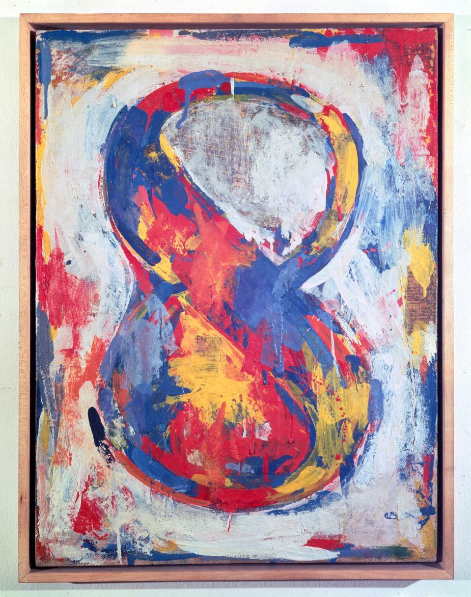 Jasper Johns, Figure 8, 1959, encaustic on canvas, 51 x 38 cm.
