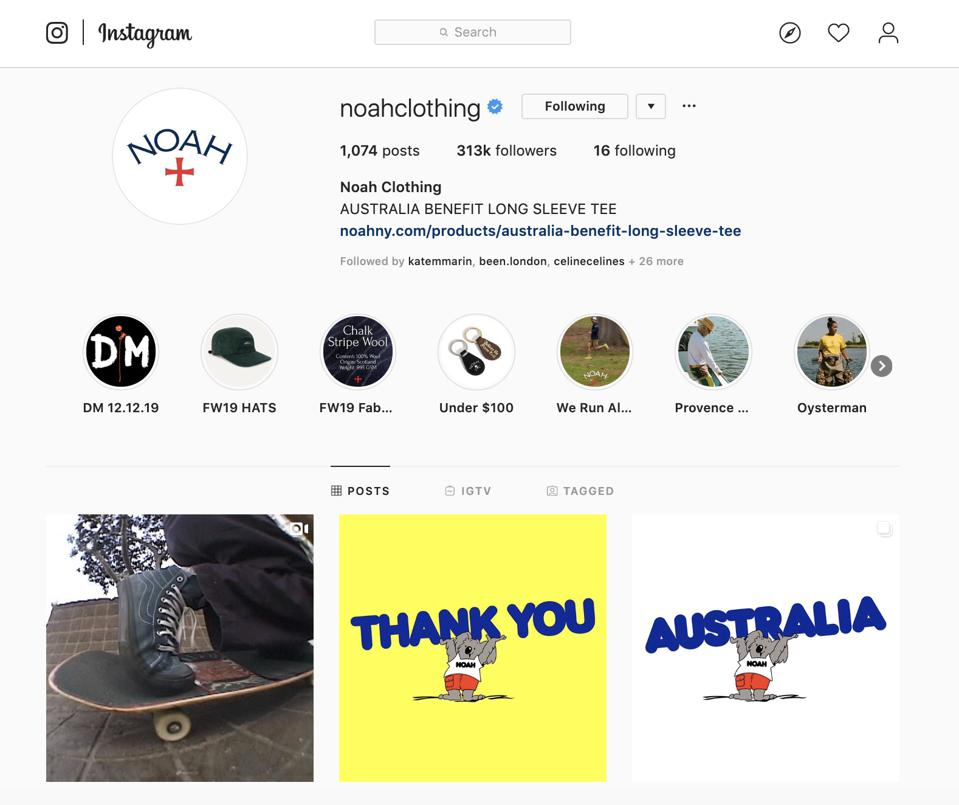 Noah Clothing on Instagram