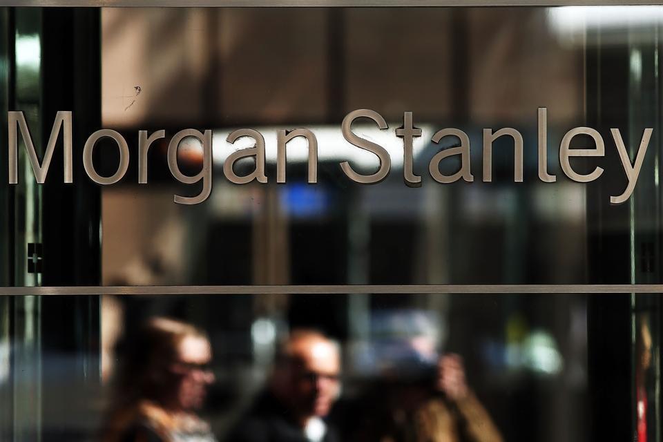 Morgan Stanley sign in New York