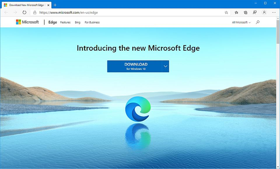 The all-new Chromium-based Edge browser from Microsoft