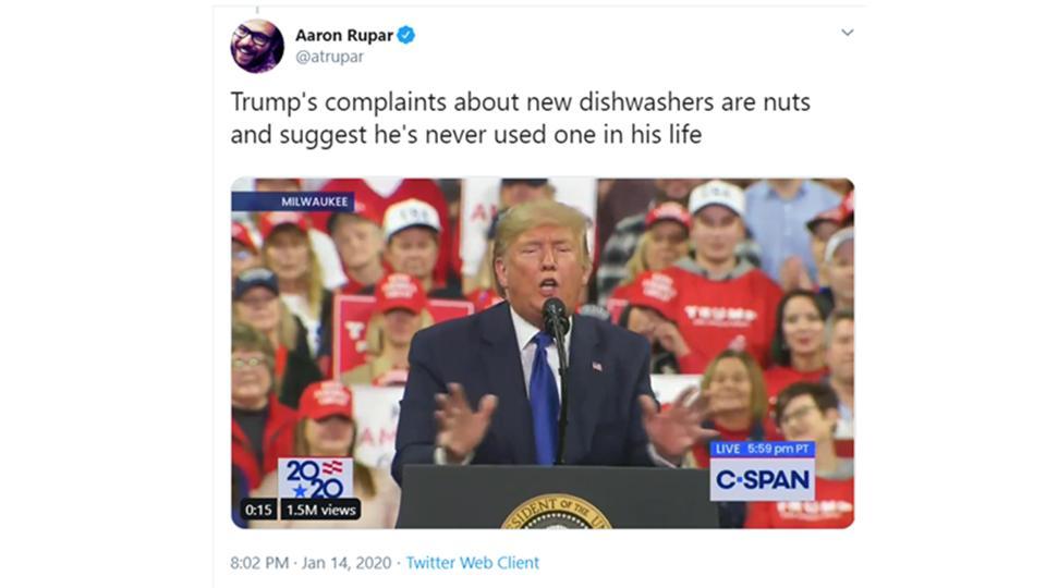 Vox's Aaron Rupar tweets