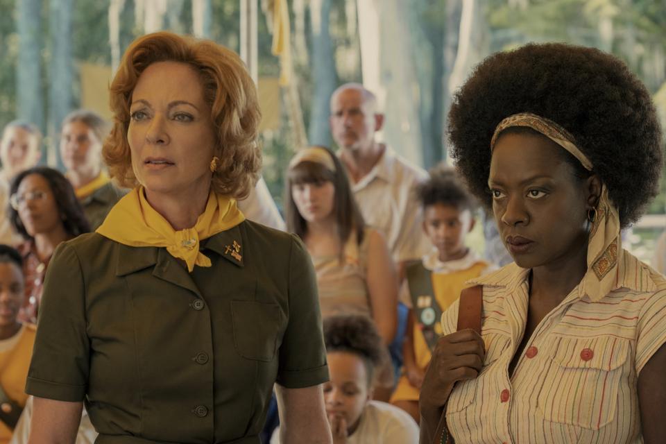 Allison Janney and Viola Davis in 'Troop Zero.'