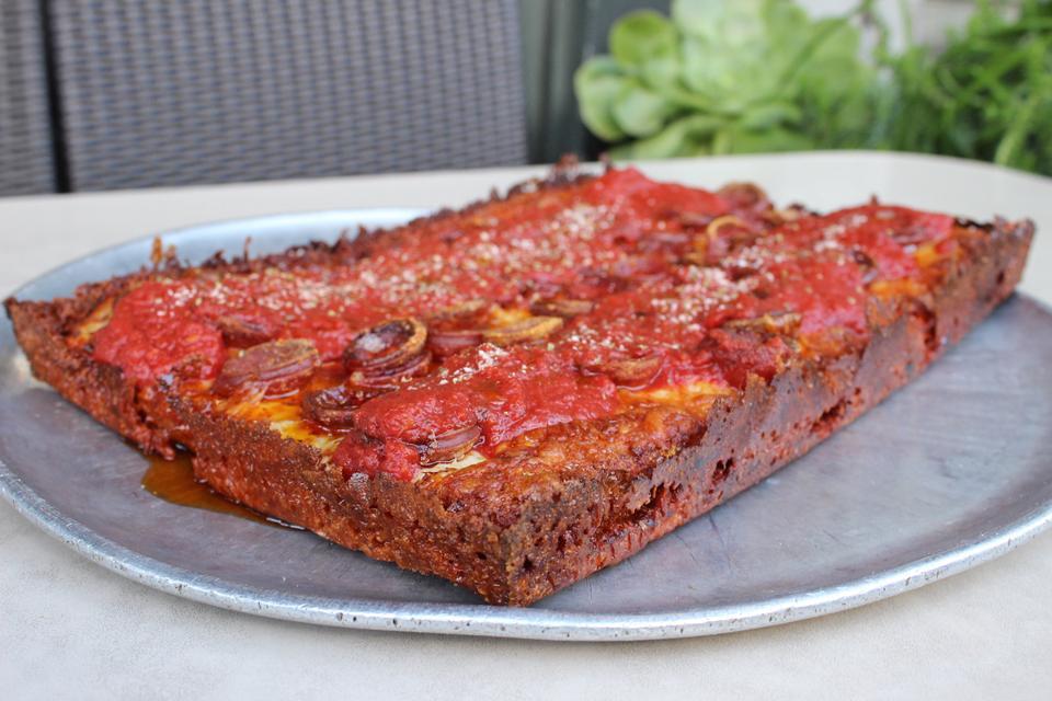 The Detroit Rosa pizza at Tony's Pizza Napoletana.