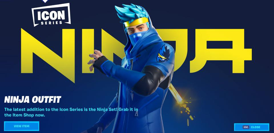 Fortnite's Ninja 'Icon' Skin Has Just Gone Live, And It's ...