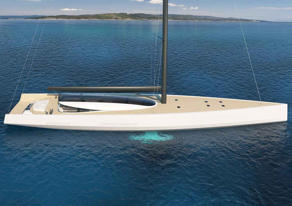 The 200-foot-long sustainable superyacht is a wolf in sustainable clothing.
