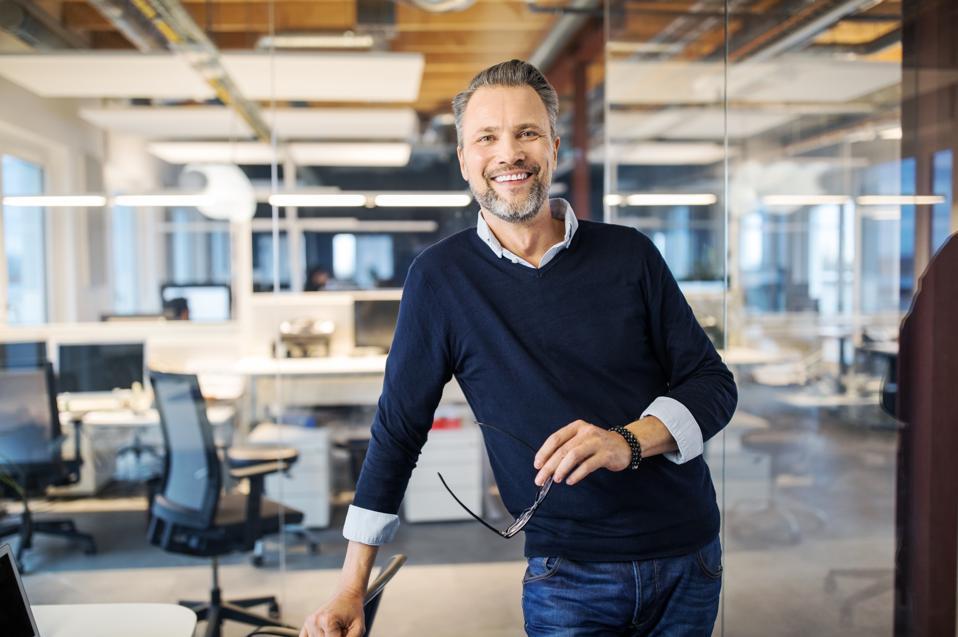 Portrait of a successful entrepreneur.
