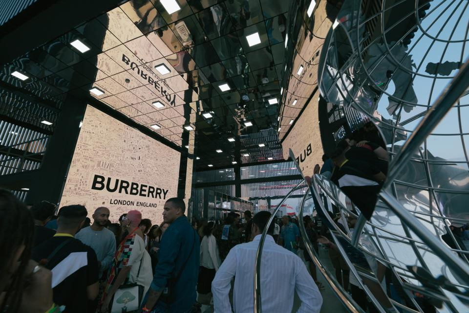 Inside the Burberry brand activation at the 2019 Sole DXB festival.