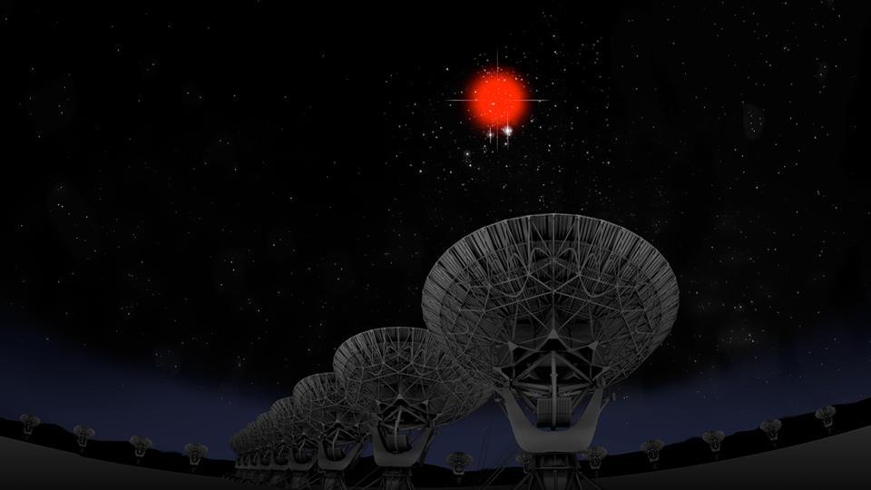 Observing a fast radio burst.